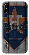 Houston Astros Wood Fence iPhone XS, XS Max, XR, X, iPhone 6 7 8 Plus Case - $16.99