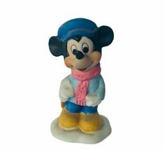 Mickey Mouse figurine vtg Walt disney japan disneyland world Schmid tiny... - $29.65