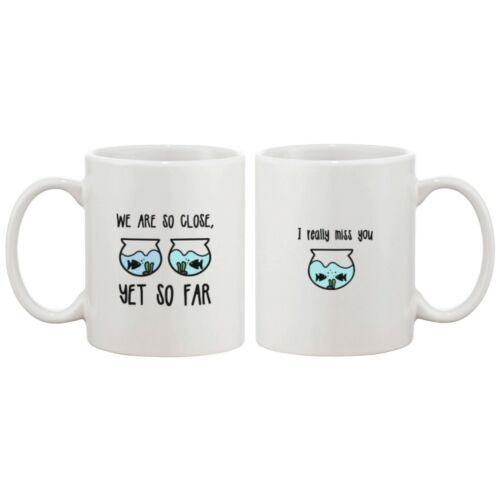 Long Distance Relationship Ceramic Mugs Cute Gift Idea - I Really Miss You