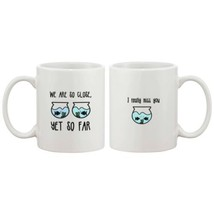 Long Distance Relationship Ceramic Mugs Cute Gift Idea - I Really Miss You - $14.99