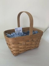 1992 Longaberger Spring Basket with fabric liner - $18.00