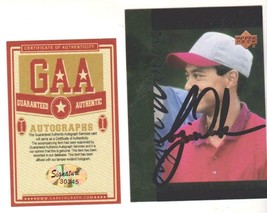 Tiger Woods Autographed Signed 1994 Upper Deck Tiger's Tale Card # TT9 w... - $98.99