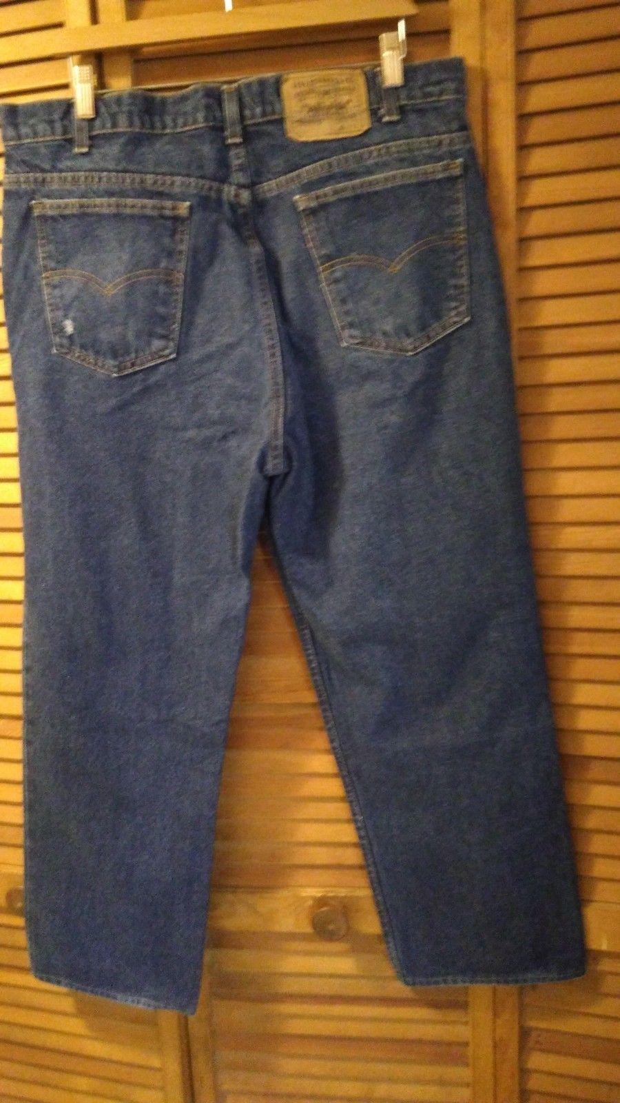Levi's blue jeans 509 men boot cut 37x27