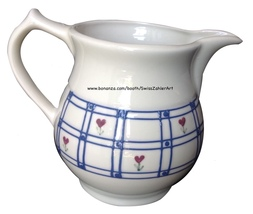 Hartstone creamer - windowpane pattern  - vintage and collectible - $15.00