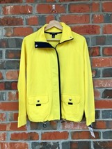 NEW NWT Chaps Active Pineapple Yellow Navy Blue Jacket Drawstring Size S... - $27.78