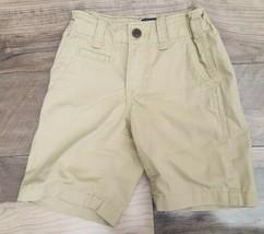 GAP Kids Easy Fit Khaki Shorts Boys Size 6 Regular Beige Uniform - $12.72