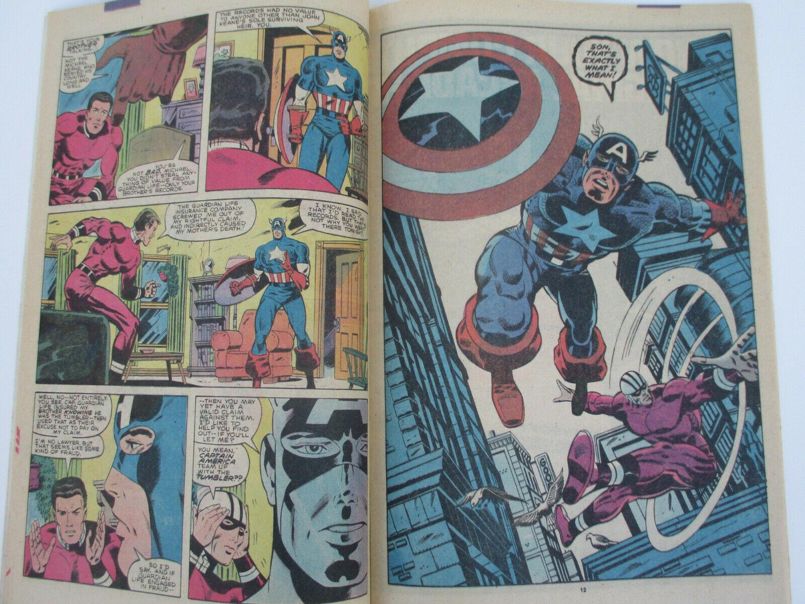 #302 1985 FN Stock Image Captain America 1st Series