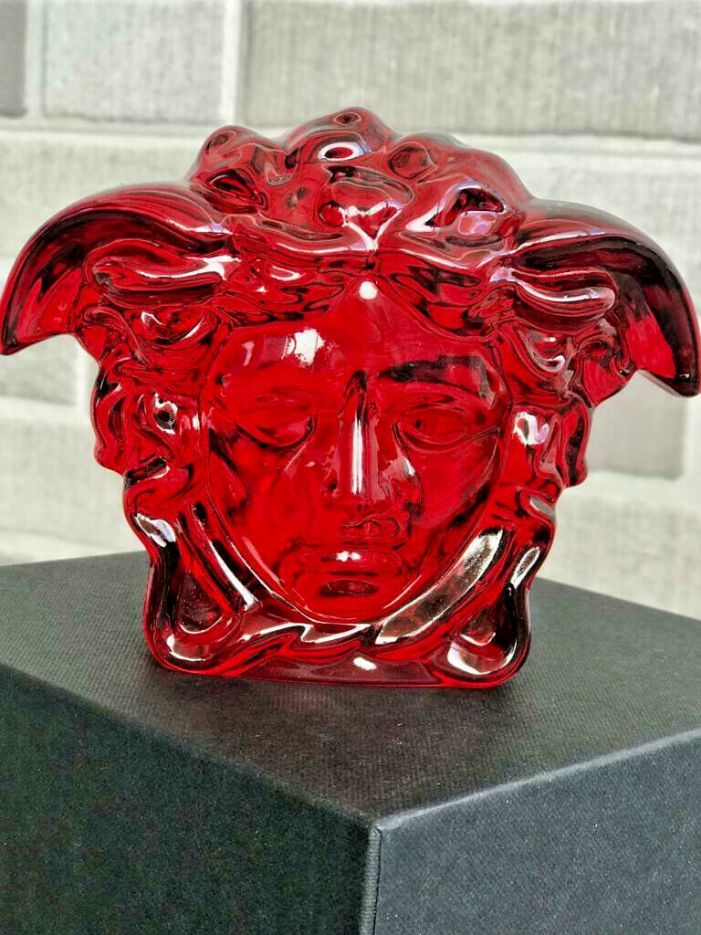 Primary image for  Versace by Rosenthal Paperweight Medusa H10 cm / H 3.9 in NEW