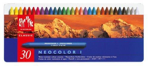 Neocolor I Water-Resistant Wax Pastels, 30 Colors