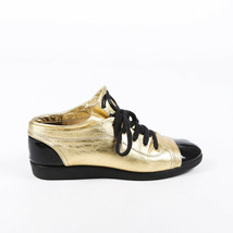 Chanel Leather CC Cap Toe Sneakers SZ 38.5 - $305.00
