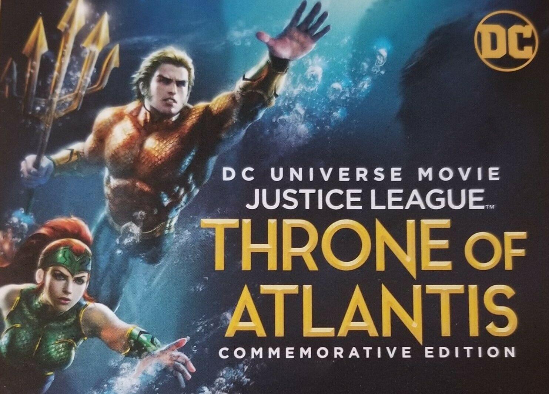 DC Justice League Throne of Atlantis (2018) Aquaman  Digital Code only NO DISCS