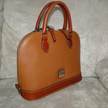 Dooney & Bourke Pebble Leather Zip Zip Satchel CARAMEL image 9