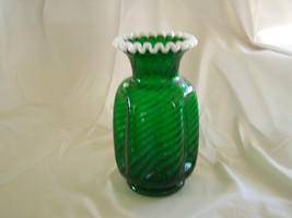 Unusual Fenton Glass Spiral Optic Emerald Green... - $275.00