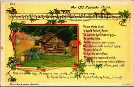 My Old Kentucky Home Song Lyrics Curt Teich Vintage Linen Postcard  - $3.95