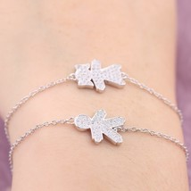 2018 NEW 100% 925 Sterling Silver Boy Girl Figure Charm Bracelet With Cl... - $17.93