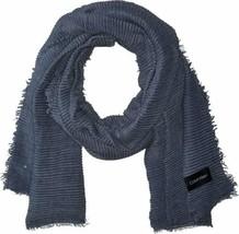 Calvin Klein Women's Pleated Scarf (Denim, One Size) - $29.58