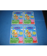 Peppa Pig Jumbo Playing Cards 4 Decks NEW - $6.85