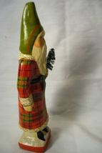 Vaillancourt Folk Art, Skinny Flannel Santa  with Tree singed by Judi! image 4