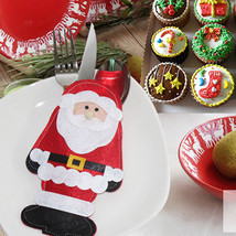 6pcs Stig Santa Cutlery Spoo Kifor Tablare Utesilk Pocket Holder - $8.99