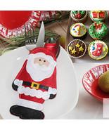 6pcs Stig Santa Cutlery Spoo Kifor Tablare Utesilk Pocket Holder - $8.99