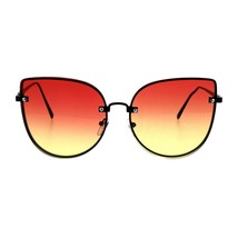 Foxy Round Cateye Butterfly Sunglasses Womens Fashion Ombre Color Lens - $10.75