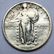 1921 Key Date Standing Liberty Silver Quarter Coin Lot 519-75