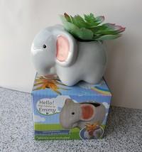 "Emmy Elephant Planter - Ceramic Animal Pot for Succulents 4"" image 1"