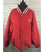 New Jersey Devils Spotlight Size XXL 2XL Coat Jacket Snap Button Hockey ... - $108.08