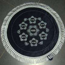 Judaica Passover Seder Matzah Afikoman Cover Set 2 Pieces Blue Velvet Silver  image 3