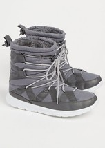 Brand New Rue 21 Ladies Lace Up Inner Faux Fur Winter/Snow Boots Grey