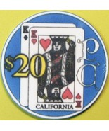 $20 Casino Chip. Patio Club, San Rafael, CA. 1991. Q93. - $17.50