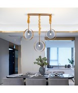 Glass Led Elegant Hanging Lighting Fixtures Dining Room Chain Dimmable Lamp - $679.99