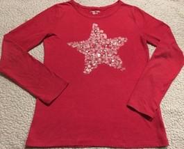 Super Cute Girls Red Long Sleeve Top W/ Star Design Sz XL 14/-16 - $10.65
