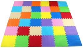 36 Interlocking Tiles Puzzle Exercise Play Mat with EVA Foam for Toddler... - $35.30