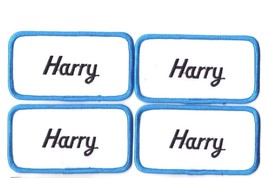Lot of 4 New Harry name patches Embroidered Sew on tag 4 1/8 x 2 1/4 inches - $8.90