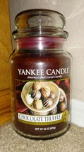Yankee Candle Chocolate Truffle 22 Oz Large Jar Candle Brown Sweet Candy - $9.49
