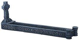 Celtic Knot Cross Incense Burner Holder Figurine - $19.75