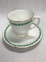 Tea coffee cup Porcelain Royal Stuart Spencer Stevenson England Green Iv... - $41.57