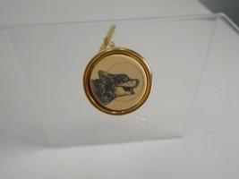 -Barlow Scrimshaw Wolf Vintage Tie Tack Lapel Pin   dr32 - $14.95