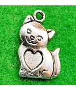 50Pcs. Wholesale Tibetan Silver CAT with Heart Charms Pendants Earring D... - $41.55