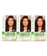 3 Ct Clairol Natural Instincts 4BZ Dark Bronze Brown Lasts 28 Shampoos H... - $26.99