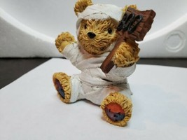 Boyd's Bearstone Friends Resin Teddy Figurine Halloween Mummy Boo Sign Ted - $20.00