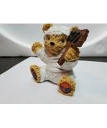 Boyd's Bearstone Friends Resin Teddy Figurine Halloween Mummy Boo Sign Ted - $19.80