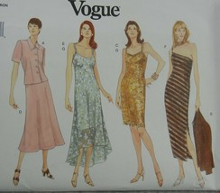 Vogue 1990 Misses 6-10  Petite Jacket dress Slip Office Evening wear str... - $7.91