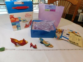 Just the Right Shoe Fire And Water heels Set 90113 plus BONUS magnet box... - $26.67