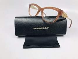 New Burberry B 2211-F 3173 Brown & Gold Ribbon Eyeglasses 53mm with Case - $94.00