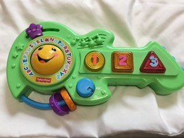 Fisher-Price Learning Guitar Toy Green 2012 Numbers ABCs Music Electronic - $9.00