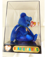 vtg 1998 TY BEANIE BABY BLUE CLUBBY I IN ORIGINAL TY DISPLAY BOX CASE - $67.32