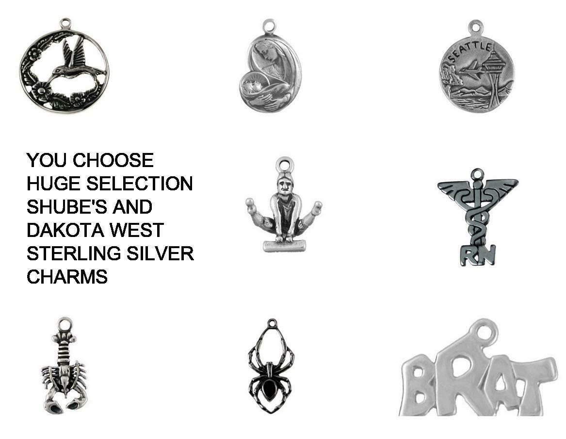 MUSIC DANCE HOBBIES STERLING SILVER CHARM .925 - HUGE SELECTION - YOU CHOOSE