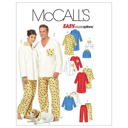 McCall's Patterns M5511 Misses'/Men's/Teen Boys' Tops, Nightshirt , Pants and To - $12.74